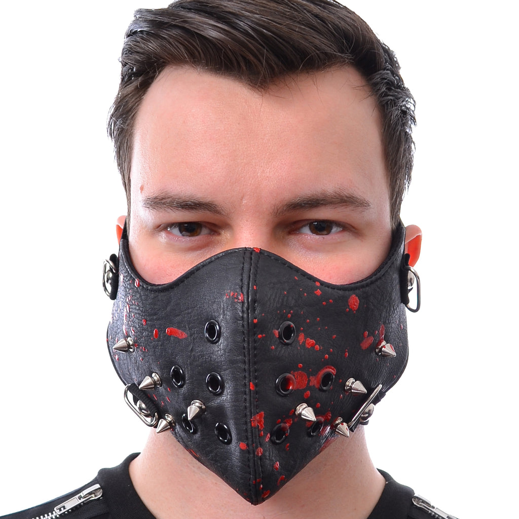 Poizen Spike Mask Black & Blood