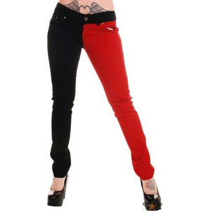 Jist Split Blk & Red Pants