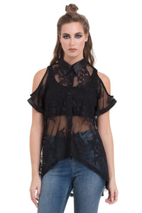 One Direction Sheer Lace Shirt