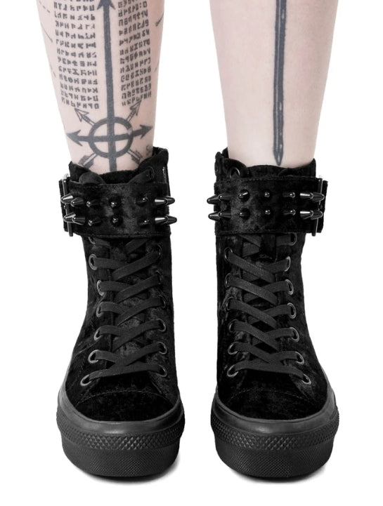 Killstar Unholy Velvet Black High Top