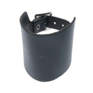 WB030 -3 Row Plain Leather Wristband