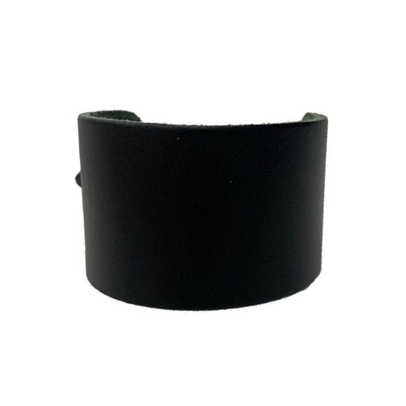 WB029- Black Leather Wristband