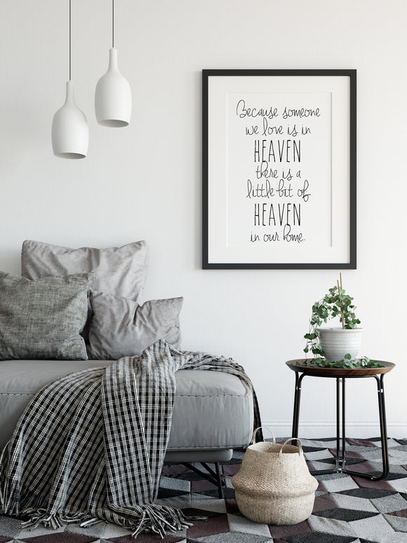 Heaven In Our Home Print