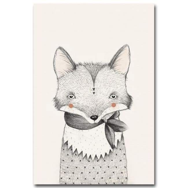 Bears Foxes & Ice-Cream - Canvas Art Series - 20X30 Cm (8X12 Inches) / Fox