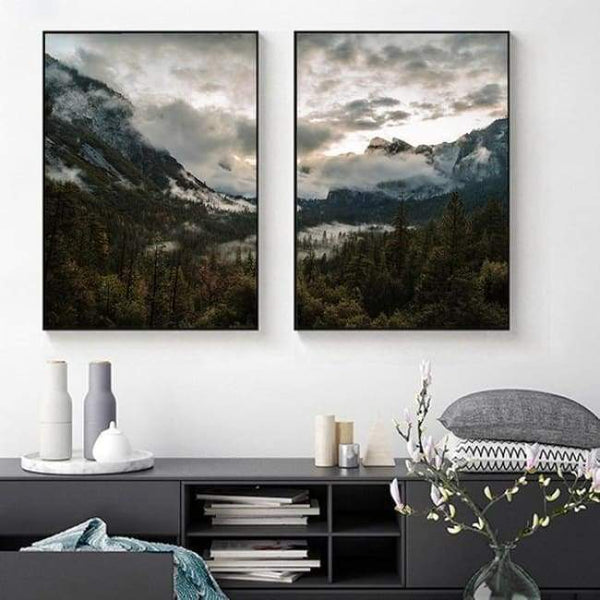 Bold Valleys - 20X30 Cm (8X12 Inches) / 2 Piece Set - Prints