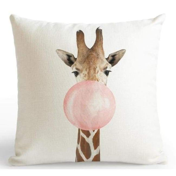 Bubble Gum Zoo Cushion Covers - Giraffe / 45X45 Cm (18X18 Inches)