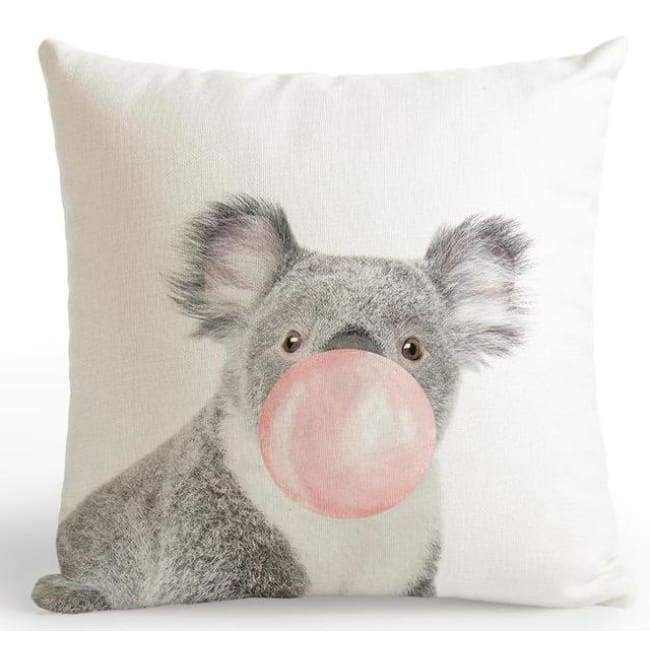 Bubble Gum Zoo Cushion Covers - Koala / 45X45 Cm (18X18 Inches)