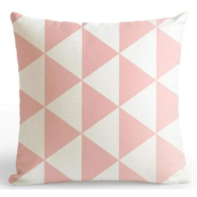 Bubble Gum Zoo Cushion Covers - Triangles / 45X45 Cm (18X18 Inches)
