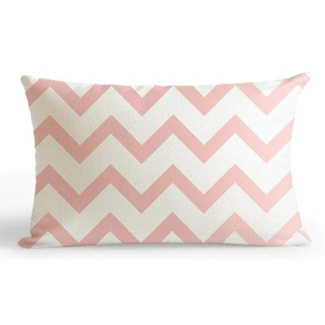 Bubble Gum Zoo Cushion Covers - Zig Zag / 30X50Cm (12X20 Inches)