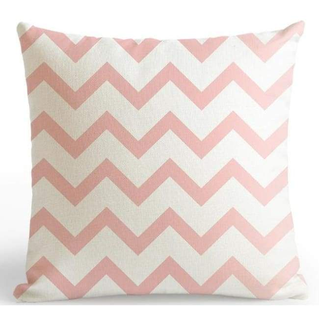 Bubble Gum Zoo Cushion Covers - Zig Zag / 45X45 Cm (18X18 Inches)