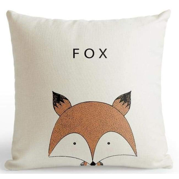 Cartoon Animal Cushion Covers - Fox / 45X45 Cm (18X18 Inches)