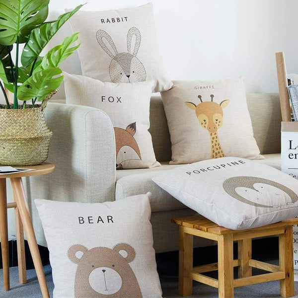 Cartoon Animal Cushion Covers