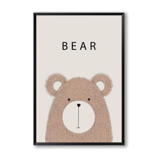 Cartoon Animal Wall Art Series - 20X30 Cm (8X12 Inches) / Bear