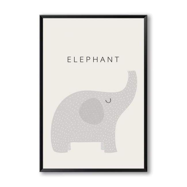 Cartoon Animal Wall Art Series - 20X30 Cm (8X12 Inches) / Elephant