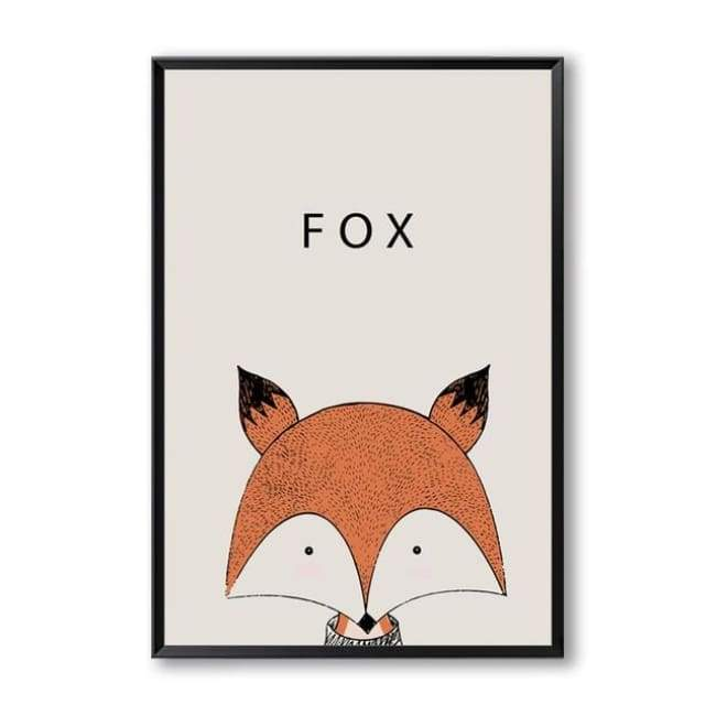 Cartoon Animal Wall Art Series - 20X30 Cm (8X12 Inches) / Fox