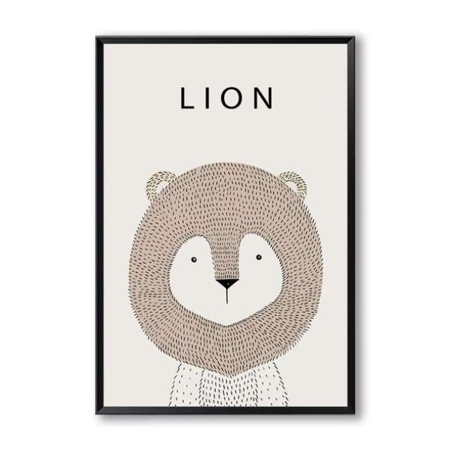 Cartoon Animal Wall Art Series - 20X30 Cm (8X12 Inches) / Lion