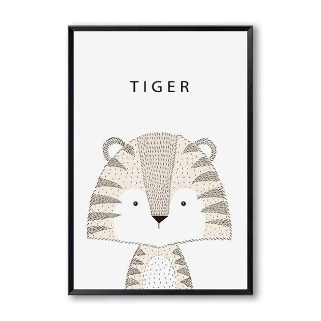 Cartoon Animal Wall Art Series - 20X30 Cm (8X12 Inches) / Tiger
