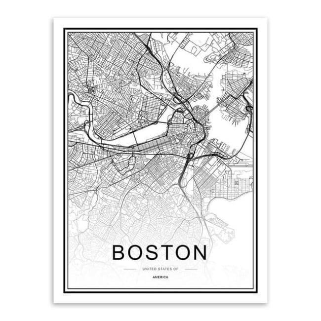 Cities - Part 1 - 20X30 Cm (8X12 Inches) / Boston