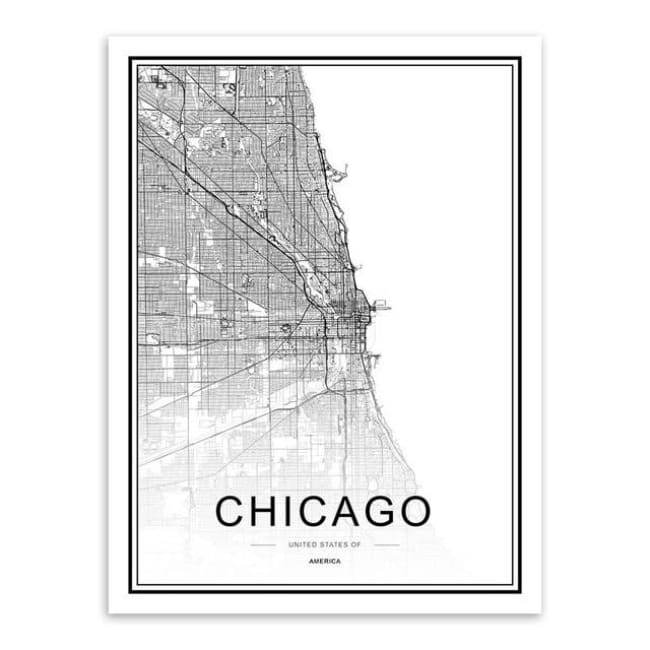 Cities - Part 1 - 20X30 Cm (8X12 Inches) / Chicago