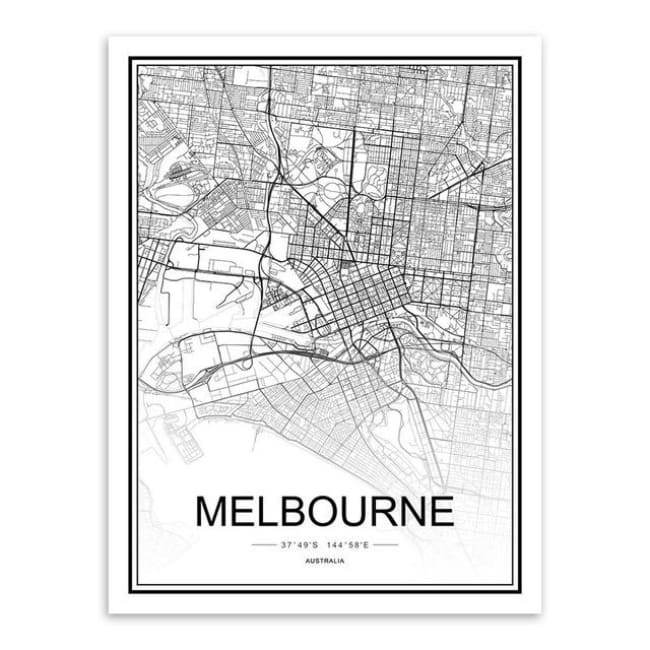 Cities - Part 1 - 20X30 Cm (8X12 Inches) / Melbourne