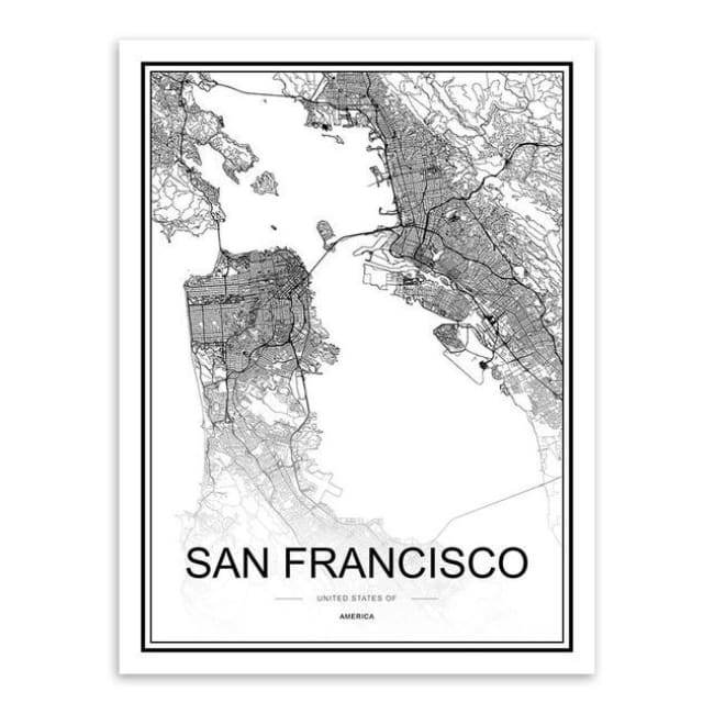 Cities - Part 1 - 20X30 Cm (8X12 Inches) / San Francisco