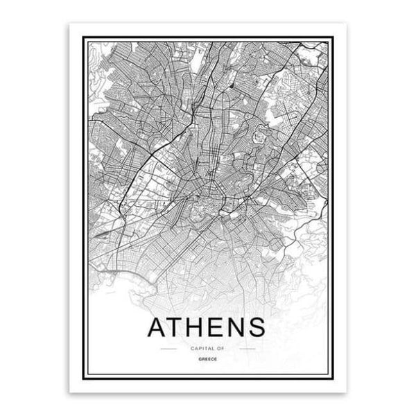 Cities - Part 2 - 20X30 Cm (8X12 Inches) / Athens