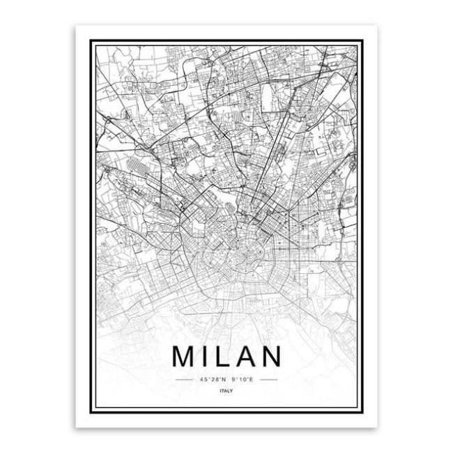 Cities - Part 2 - 20X30 Cm (8X12 Inches) / Milan
