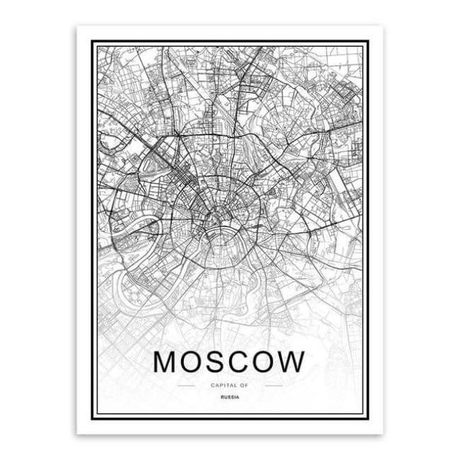 Cities - Part 2 - 20X30 Cm (8X12 Inches) / Moscow