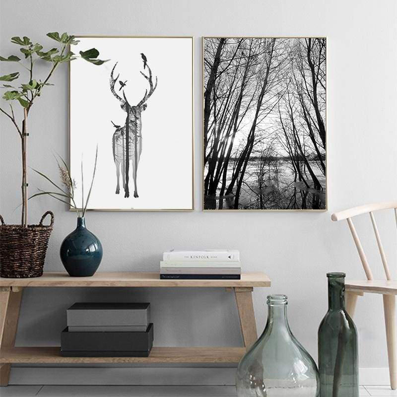 Elegance In My Deer Forest - Prints
