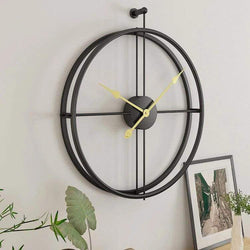 Framed Wall Clock - Black & Gold