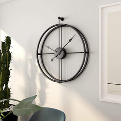 Framed Wall Clock - Black