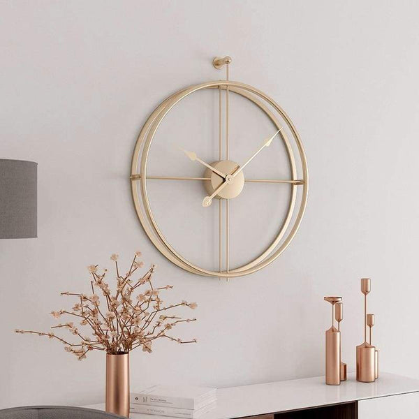 Framed Wall Clock - Gold