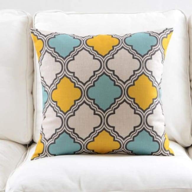 Fresh Blue Cushion Covers - Clover 1 - 45X45 Cm (18X18 Inches)