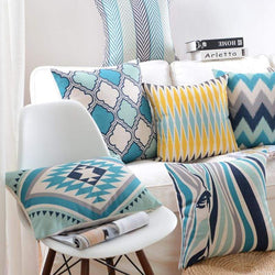 Fresh Blue Cushion Covers