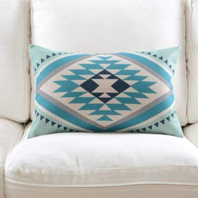 Fresh Blue Cushion Covers - Diamond 1 - 30X50Cm (12X20 Inches)