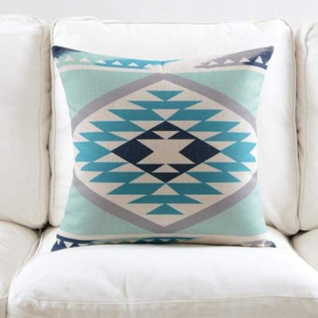 Fresh Blue Cushion Covers - Diamond 1 - 45X45 Cm (18X18 Inches)