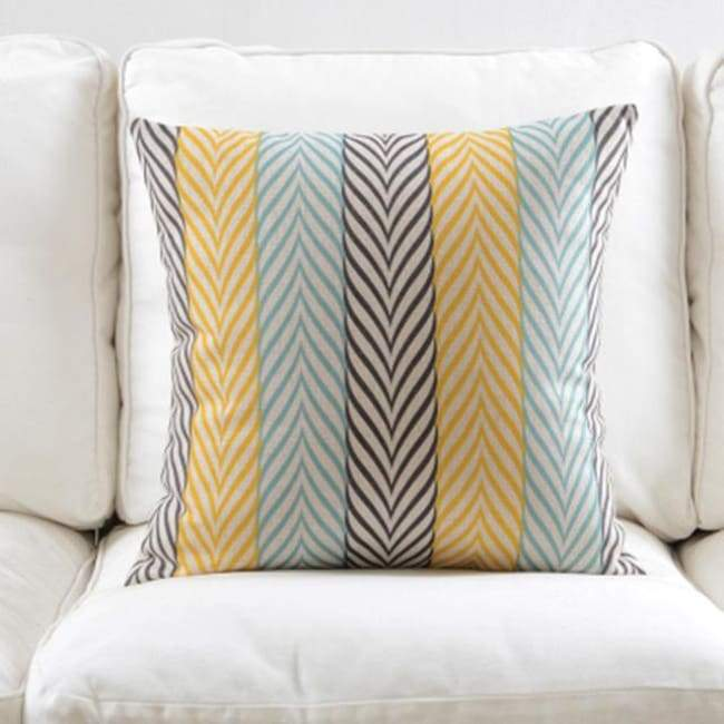 Fresh Blue Cushion Covers - Stripe 1 - 45X45 Cm (18X18 Inches)