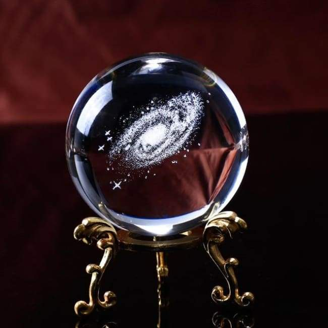Global Galaxy - Crystal Ball With Gold Base