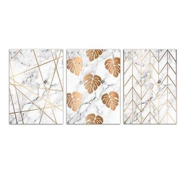 Gold on Marble - 20x30 cm (8x12 inches) / 3 Piece Set