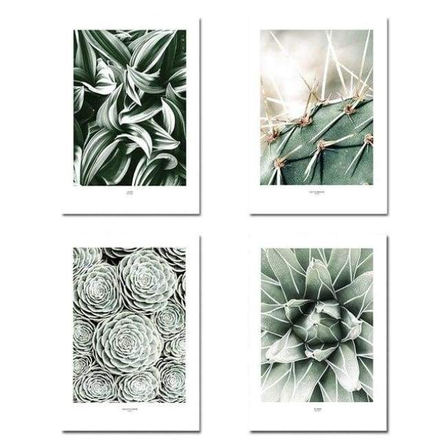 Green Leaves - 20X30 Cm (8X12 Inches) / 4 Piece Set