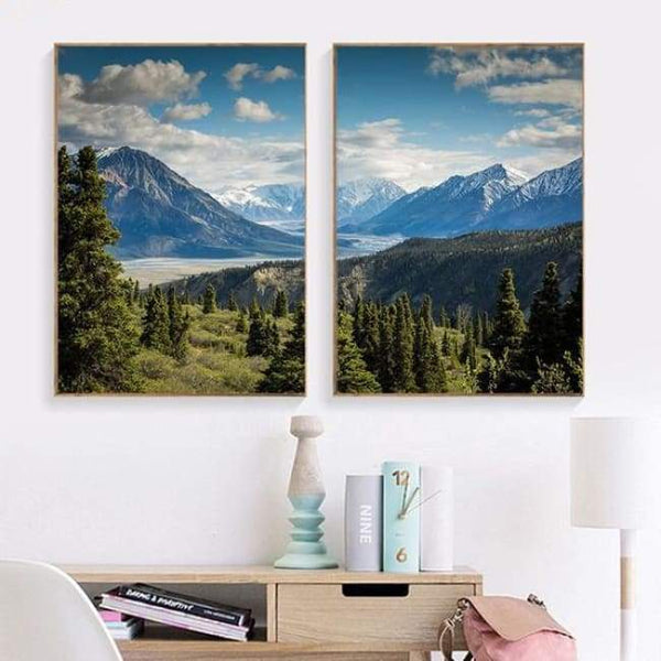Light Landscapes - 20X30 Cm (8X12 Inches) / 2 Piece Set