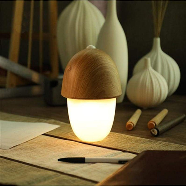 Lighting Up The Acorn - Light Wood - Desk Lights