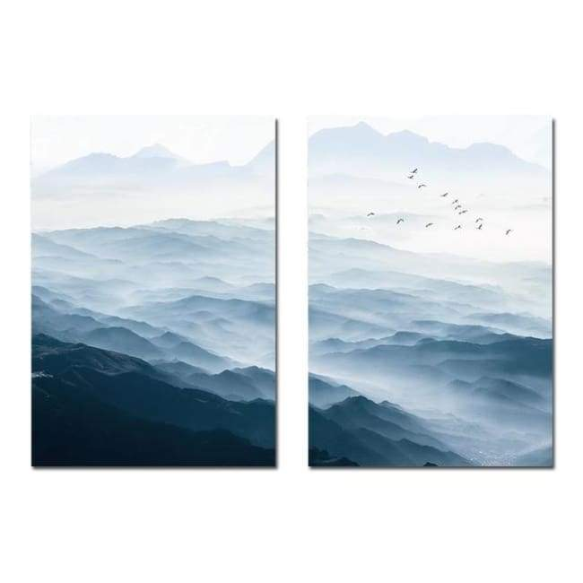 Misty Mountains - 20X30 Cm (8X12 Inches) / 2 Piece Set