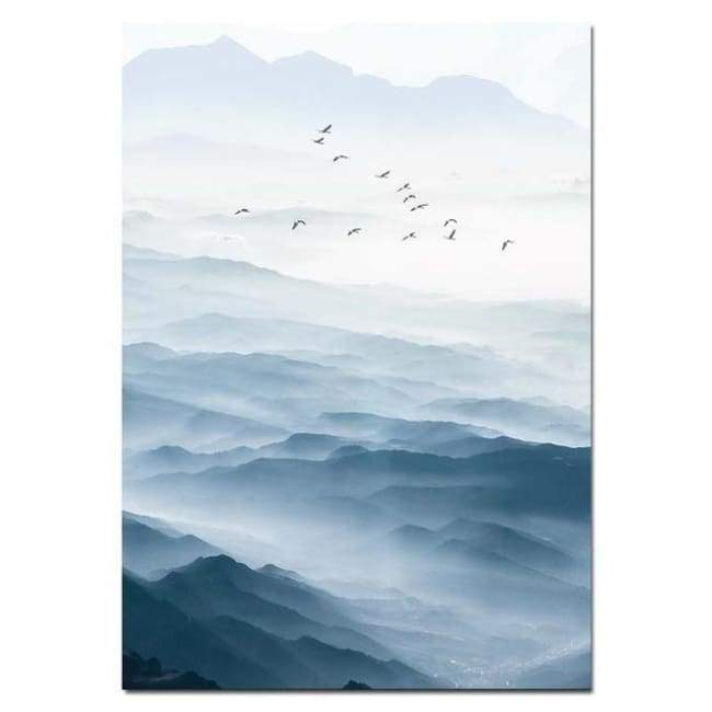 Misty Mountains - 20X30 Cm (8X12 Inches) / Left