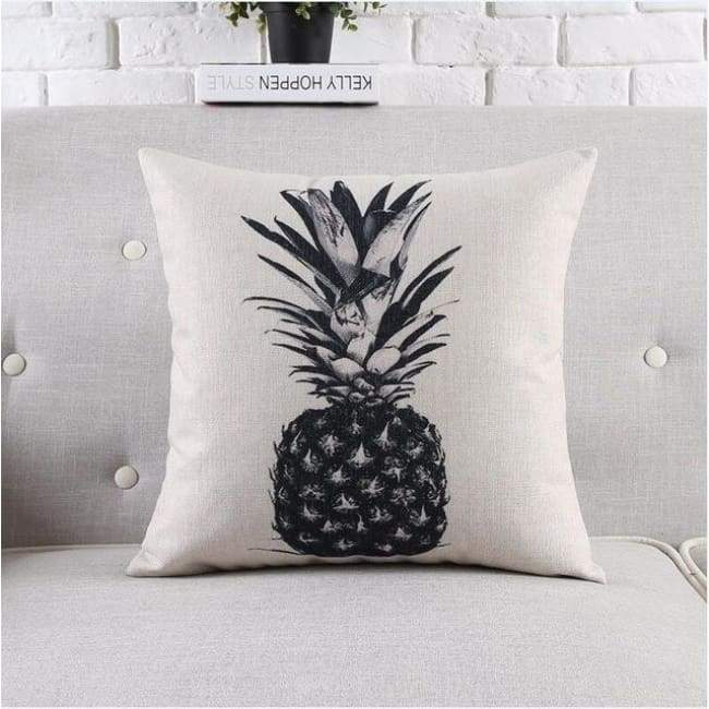 Modern Tropica Cushion Covers - Pineapple - 45X45 Cm (18X18 Inches)