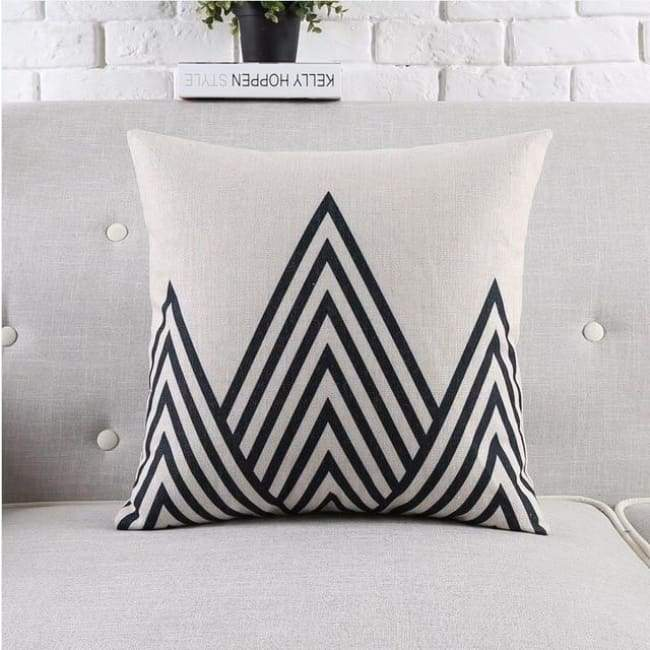 Modern Tropica Cushion Covers - Triangles 1 - 45X45 Cm (18X18 Inches)