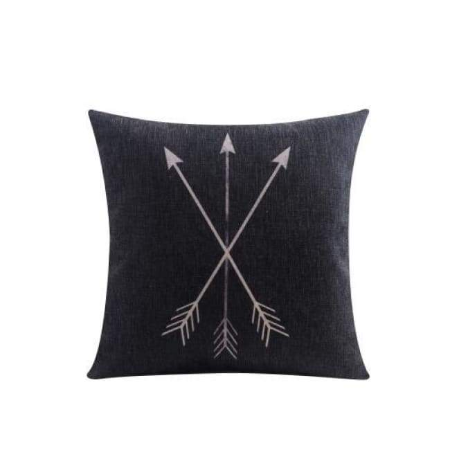 Nordic Cushion Covers - Arrows - 45X45 Cm (18X18 Inches)