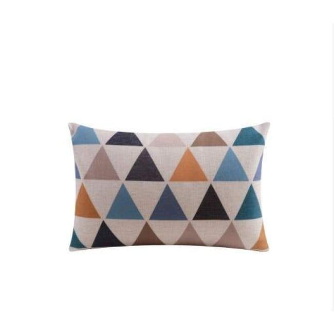 Nordic Cushion Covers - Colour Triangles - 30X50 Cm (12X20 Inches)