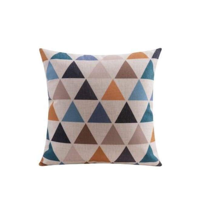 Nordic Cushion Covers - Colour Triangles - 45X45 Cm (18X18 Inches)