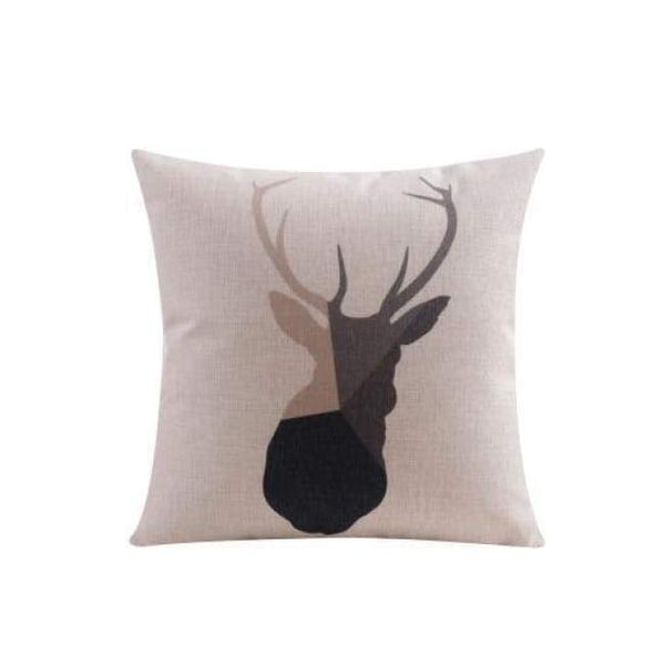 Nordic Cushion Covers - Reindeer 1 - 45X45 Cm (18X18 Inches)